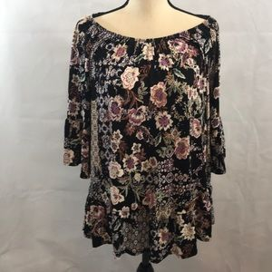 NWT OX women's blouse 3/4 bell type sleeves